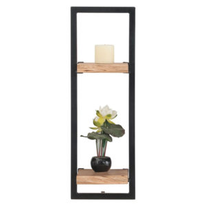 LIZARD Frame ράφι Μεταλ.Μαύρο/Ξύλο Ακακία Φυσικό