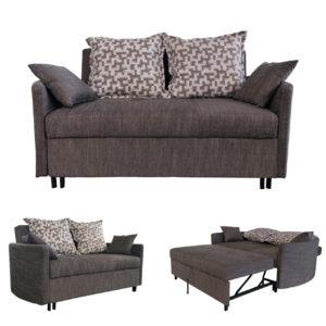 ADAMS Καναπές/Κρεβάτι Ύφασμα Καφέ