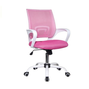 BF2101-S πολυθρόνα γραφείου Άσπρη/Ροζ Mesh