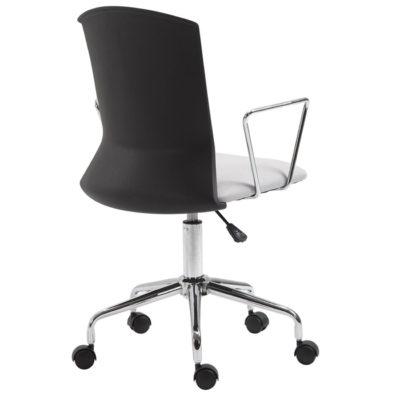 BF2250 Πολυθρόνα PP Μαύρo/Ύφασμα Ανοικτό Γκρι