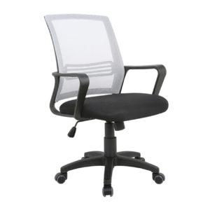 BF2110 Πολυθρόνα γραφείου Mesh Γκρι/Μαύρο